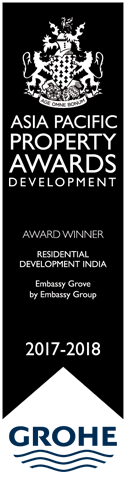 "Asia Pacific International Property Award 2017-2018 for the ""Residential Development - India"""