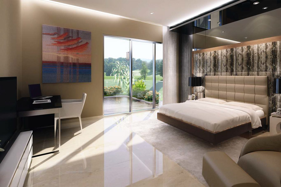 Triplex villa Bedroom